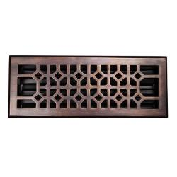 Copper Factory Solid Copper 4-inch x 12-inch Floor Register