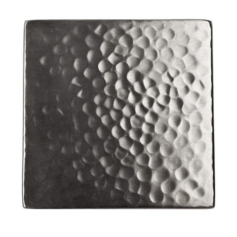 "Copper 4"" x 4"" Accent Tile in Satin Nickel (Pack of Three)"