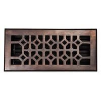 """Handcrafted Copper Factory Solid-Copper 4"""" x 10"""" Floor Register"""