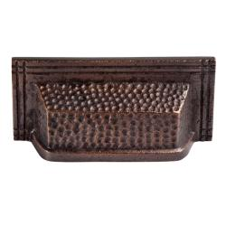 Copper Factory Solid Copper Rectangular Bin Pull - Set of 2
