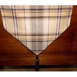 RLF Home Galahad Chestnut Tasseled Table Runner - Thumbnail 1
