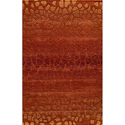 "Ombre Stones Paprika Hand-Tufted Wool Rug (3'6"" x 5'6"")"