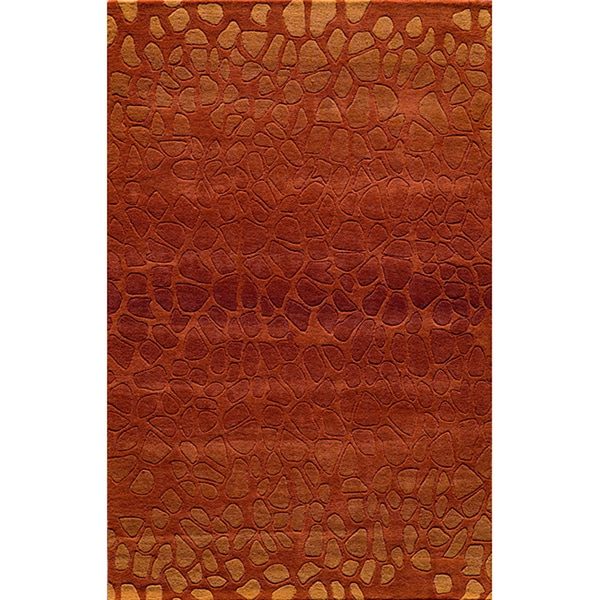 Ombre Stones Paprika Hand-Tufted Wool Rug (8' x 10')