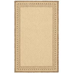 Safavieh Courtyard Majesty Natural/ Brown Indoor/ Outdoor Rug Set (6'6 x 9'6 and 1'8 x 2'8) - Thumbnail 1