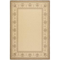 Safavieh Courtyard Majesty Natural/ Brown Indoor/ Outdoor Rug Set - 6'6 x 9'6 - Thumbnail 0