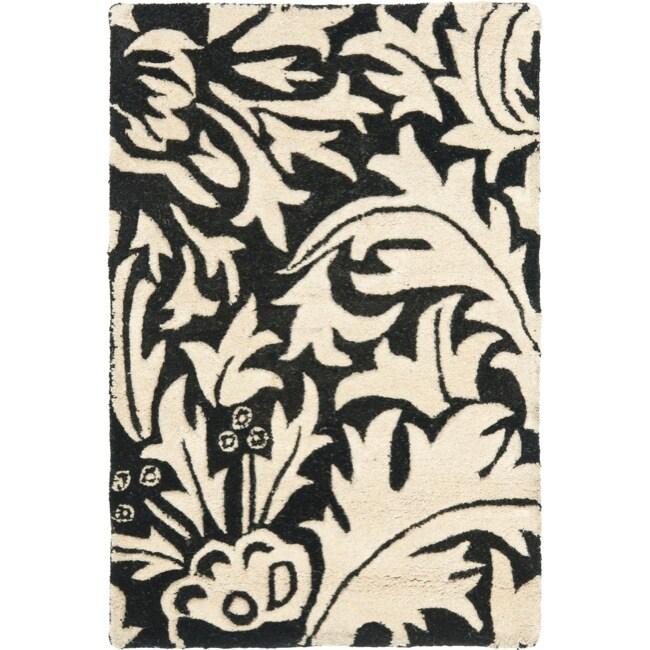Safavieh Handmade Bliss Beige/ Black New Zealand Wool Rug - 2' x 3'