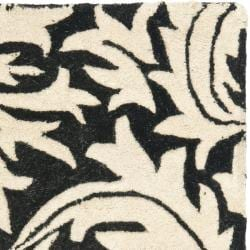Safavieh Handmade Bliss Beige/ Black New Zealand Wool Rug (2' x 3') - Thumbnail 1
