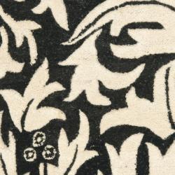 Safavieh Handmade Bliss Beige/ Black New Zealand Wool Rug (2' x 3') - Thumbnail 2