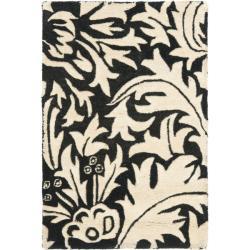 Safavieh Handmade Bliss Beige/ Black New Zealand Wool Rug (2' x 3')