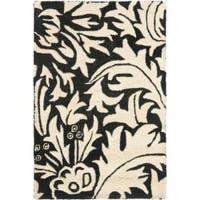 Safavieh Handmade Bliss Beige/ Black New Zealand Wool Rug (2' x 3') - 2' x 3'