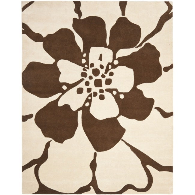 Safavieh Handmade New Zealand Wool Endless Beige Rug - 7'6 x 9'6