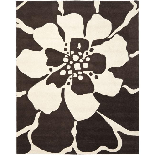 """Safavieh Handmade Endless Brown Wool Rug - 7'6"""" x 9'6"""""""
