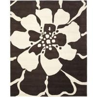 Safavieh Handmade Endless Brown Wool Rug - 7'6 x 9'6