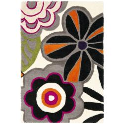Safavieh Handmade New Zealand Wool Flower Power Ivory Rug (2' x 3')