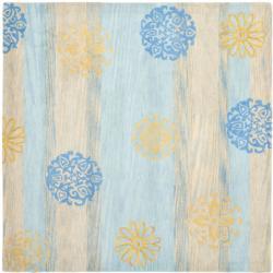 Safavieh Handmade Eternity Blue New Zealand Wool Rug (6' Square)