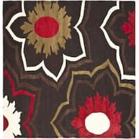 Safavieh Handmade Memories Brown New Zealand Wool Rug (6' Square) - 6' Square