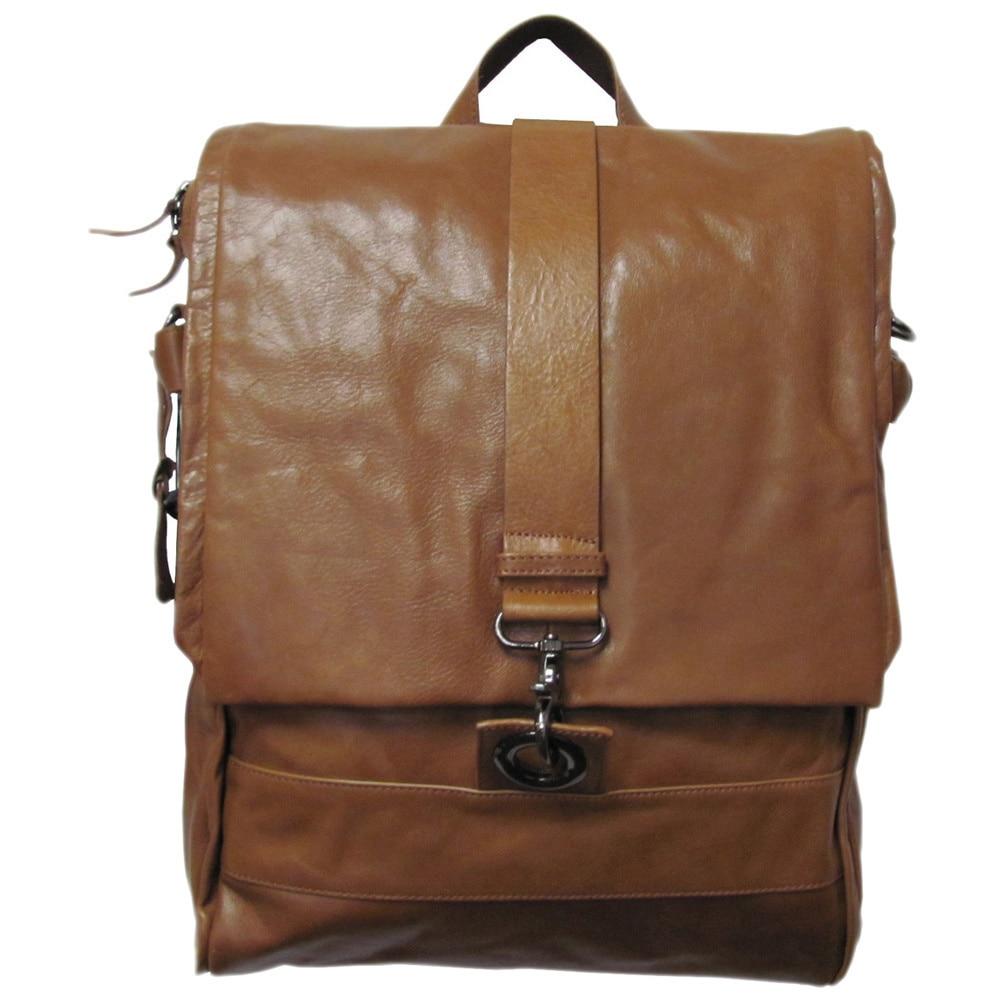 Amerileather Vintage Hunter Leather Messenger Bag/ Backpa...