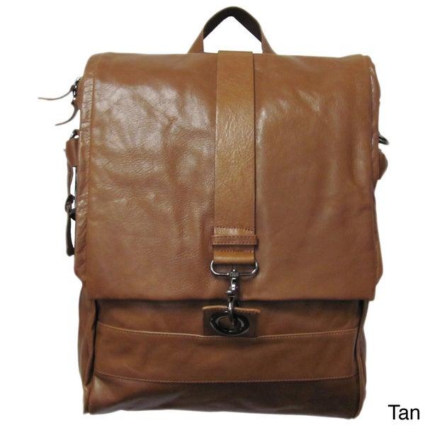 Amerileather Vintage Hunter Leather Messenger Bag/ Backpack - Free ...
