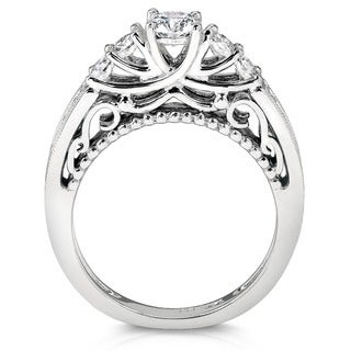 Annello 14k Gold 1 1/4ct TDW 5-stone Diamond Bridal Ring Set (H-I, I1-I2)