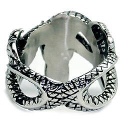 Oliveti Stainless Steel Men's Biker Dragon Ring