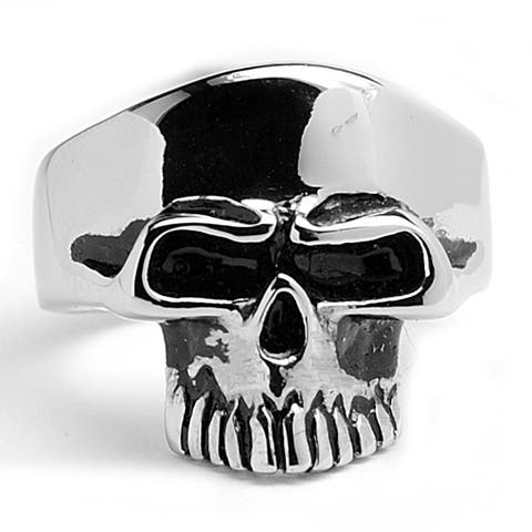Oliveti Stainless Steel Men's Skull Ring