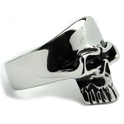 Oliveti Stainless Steel Men's Skull Ring