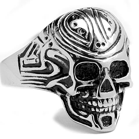 Oliveti Stainless Steel Men's Cast Skull Ring