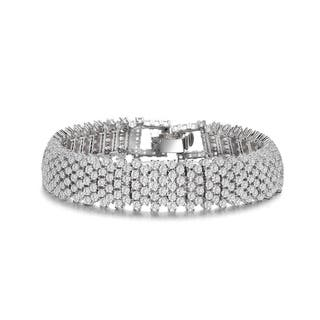 Collette Z Sterling Silver Clear Cubic Zirconia 4-row Tennis Bracelet|https://ak1.ostkcdn.com/images/products/6405569/Collette-Z-Sterling-Silver-Clear-Cubic-Zirconia-4-row-Tennis-Bracelet-P14015232.jpg?impolicy=medium