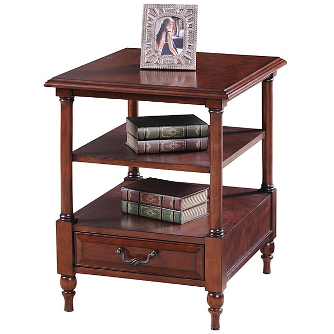Cherry Tier End Table Free Shipping Today Overstock