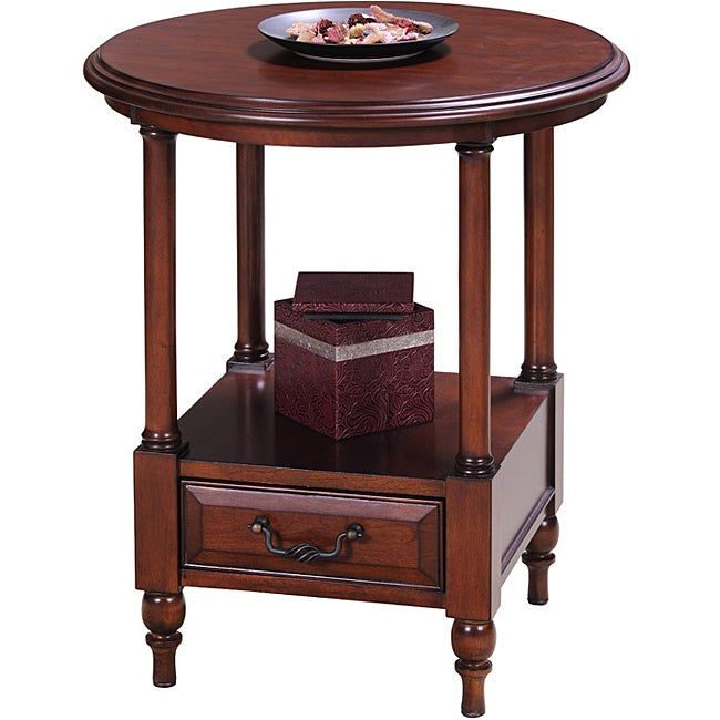 Cherry Round Side Table - Thumbnail 0