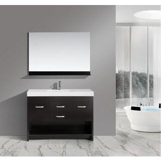 Design Element 48 inch Solid Wood Contemporary Single Bathroom Vanity Set