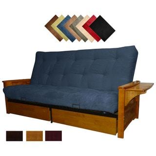 Bellevue Microfiber Suede Inner Spring Queen size Futon Sofa Bed Sleeper Overstock Shopping