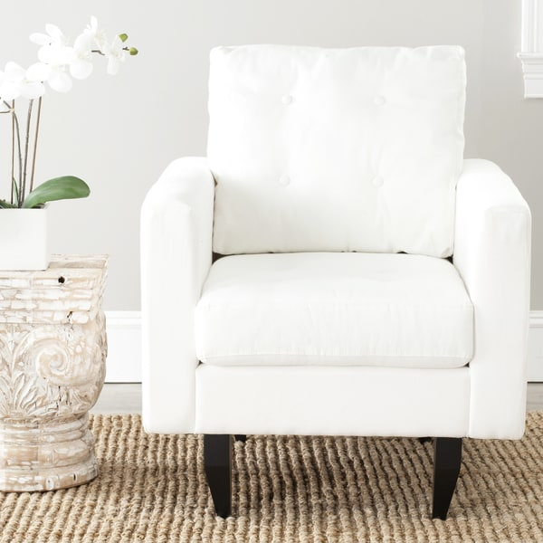 Safavieh Mondovi White Cotton Club Chair