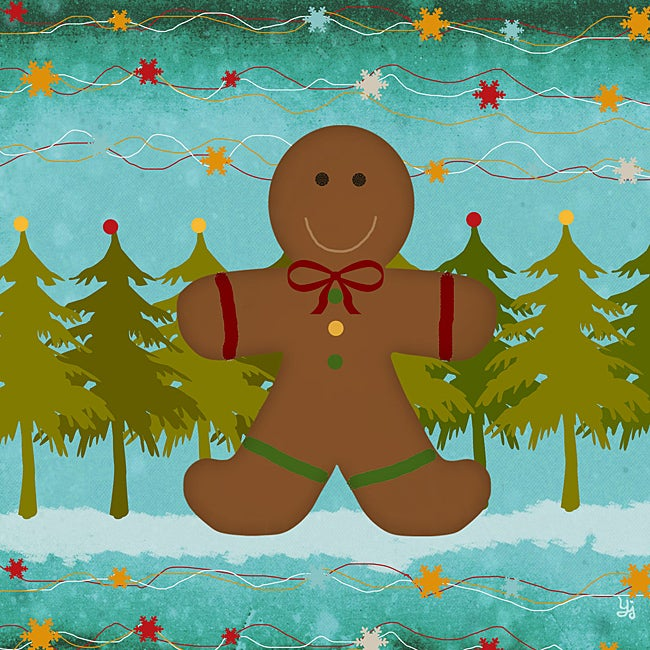 """Ankan """"Ginger Bread"""" Gallery-Wrapped Canvas Art"""