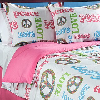 Peace Time Queen-size 4-piece Comforter Set