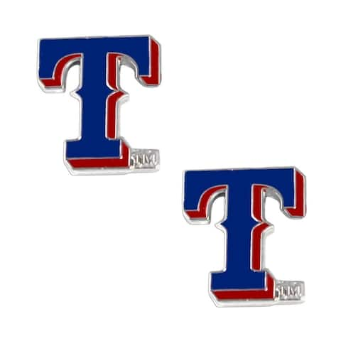 Aminco International Texas Rangers Post Stud Earrings Set
