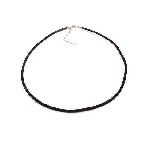 Handmade Black Velvet Necklace Cord, Set of 2