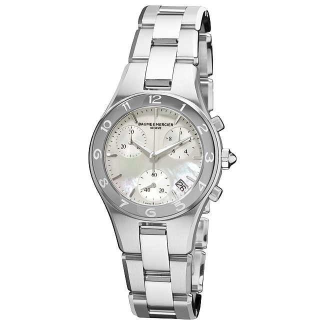 Baume & Mercier Women's M0A10012 'Linea' Mother of Pearl Dial Chronograph Watch