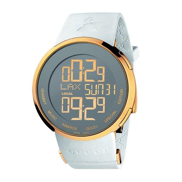 Gucci Men's YA114216 'GrammyEdition' Digital White Strap Watch