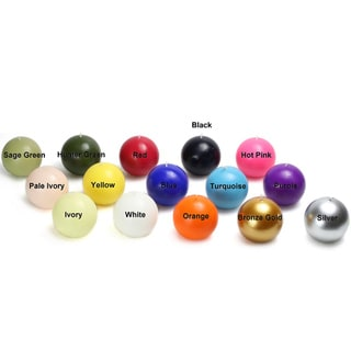 Link to 3-inch Ball Candles (Case of 6) Similar Items in Decorative Accessories