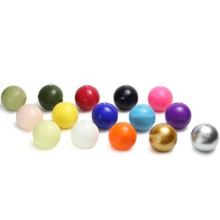 Hand-poured 2-inch Ball Candles (Pack of 12)
