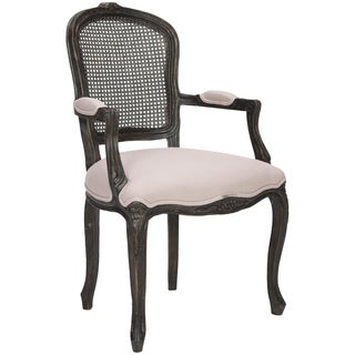 Safavieh Old World Dining Mckenna Beige/ Antiqued Black Carved Arm Chair