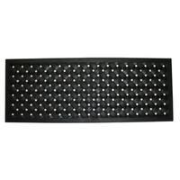 Black 30-inch x 18-inch Braided Rubber Mat