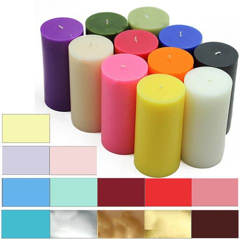 3x6 Inch Pillar Candles (Pack of 12)