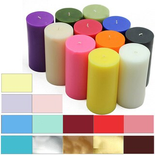 3x6 Inch Pillar Candles (Pack of 12) (More options available)