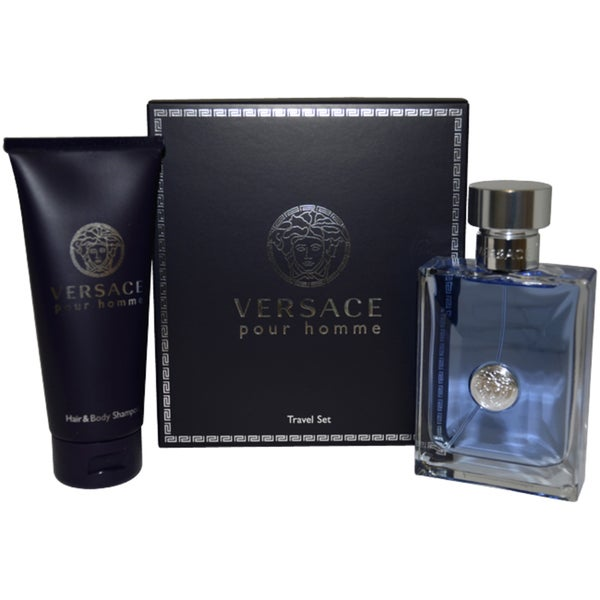 Shop Versace Versace Pour Homme Menu0027s 2-piece Fragrance Gift Set - Free Shipping Today - Overstock - 6408462  sc 1 st  Overstock.com & Shop Versace Versace Pour Homme Menu0027s 2-piece Fragrance Gift Set ...