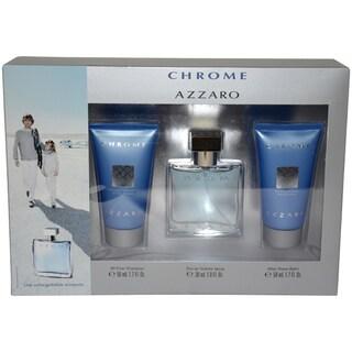 Loris Azzaro 'Chrome' Men's 3-piece Fragrance Gift Set