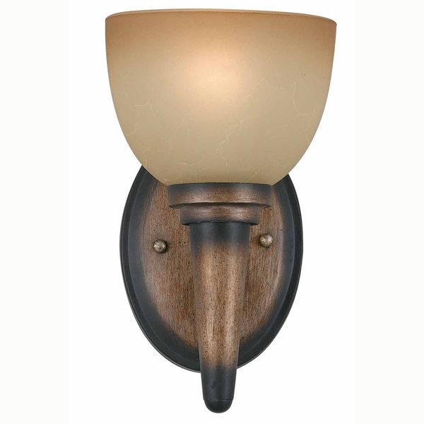 Olympian 1-Light Torch Bronze Wall Sconce