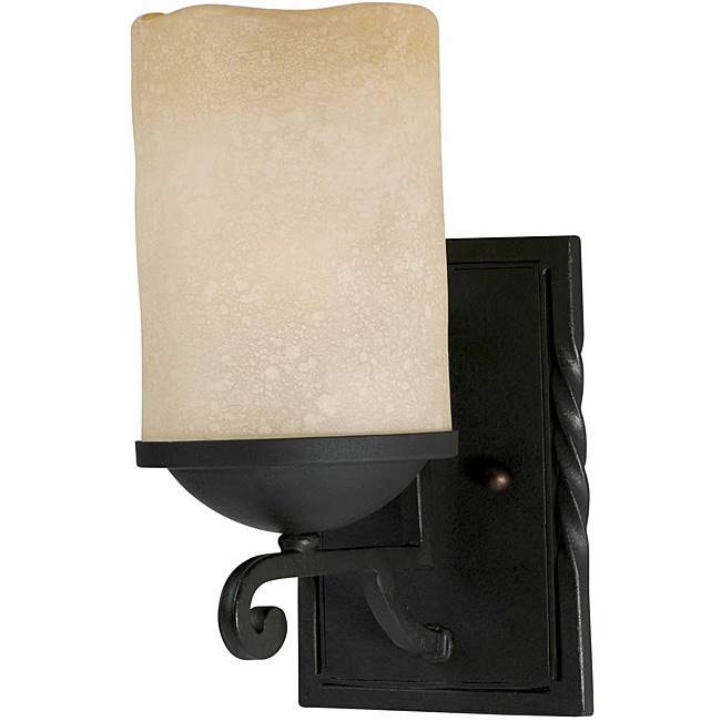Granada 1-Light Blacksmith Bronze Wall Sconce