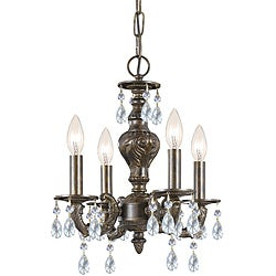 Crystorama Sutton Collection 4-light Venetian Bronze Chandelier